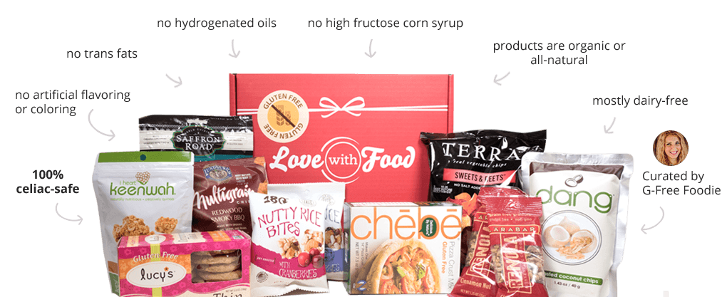 Love With Food Gluten Free Monthly Subscription Box